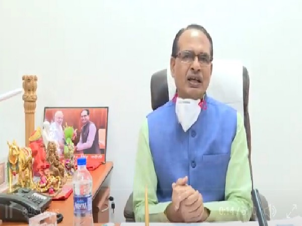 Madhya Pradesh Chief Minister Shivraj Singh Chouhan in a video message on Tuesday. (Twitter Image)