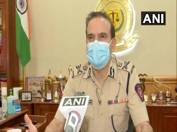Mumbai Police Commissioner Param Bir Singh speaking to ANI on Monday.