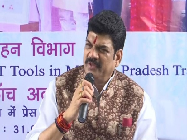 Madhya Pradesh Transport Minister Govind Singh Rajput speaking at a press conference in Bhopal on Saturday.