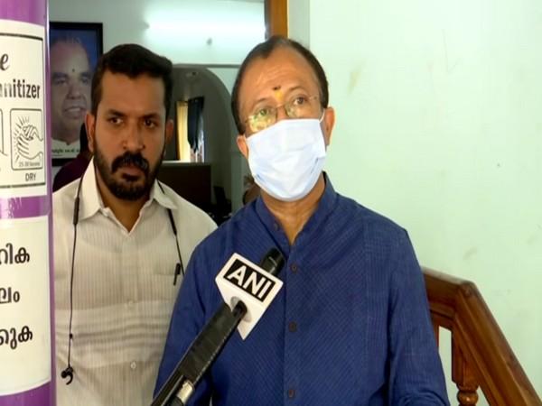 BJP leader V Muraleedharan speaking to ANI in Thiruvananthapuram on Monday.