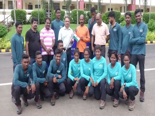 The 15-member team in Odisha on Monday. Photo/ANI