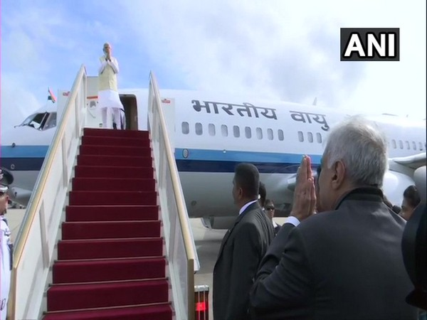 Prime Minister Narendra Modi wrapping up his two-nation official trip in Colombo on Sunday (Photo/ANI)
