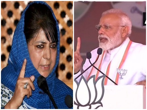 PDP chief Mehbooba Mufti (left) and Prime Minister Narendra Modi (right)