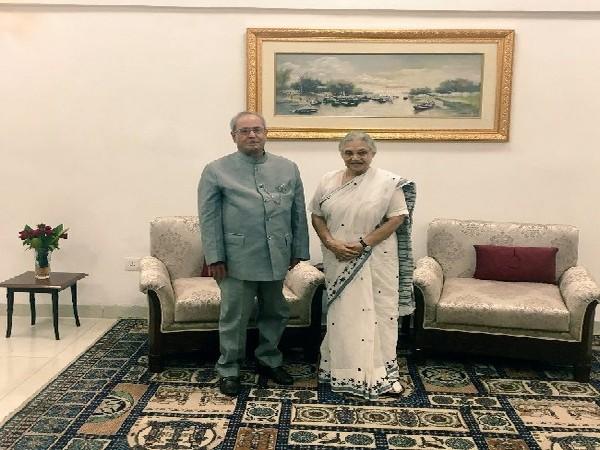 Former President Pranab Mukherjee with Sheila Dikshit, who died on Saturday in New Delhi (Image courtesy: Twitter handle of former President Pranab Mukherjee)