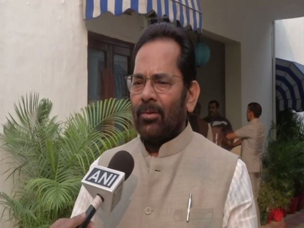 Union Minority Affairs Minister Mukhtar Abbas Naqvi  speaks to ANI in Tuesday [Photo/ANI]