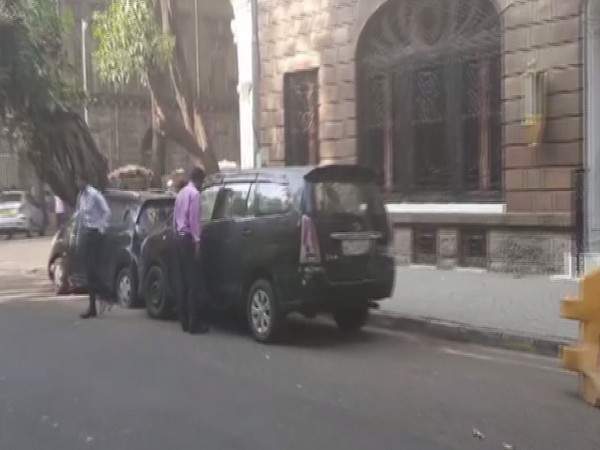 NCB officials inspect the seized cars near the NCB office in Mumbai (Photo/ ANI)