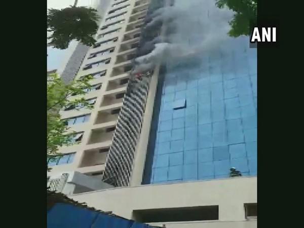 Fire at Peninsula Business park in Andheri, Mumbai. Photo/ANI