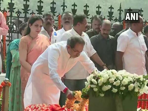 Shiv Sena chief Uddhav Thackeray and his wife Rashmi Thackeray. Photo/ANI