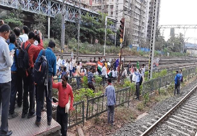 Protest in Mumbai, Maharashtra on Wednesday.