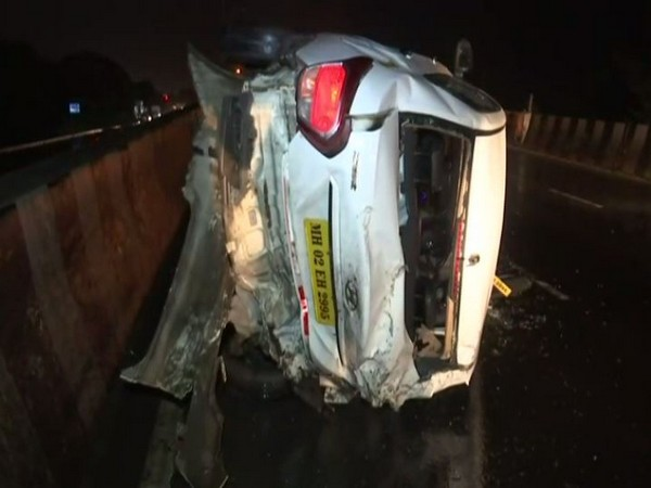 A cab was rammed from behind by a dumper truck at Mumbai's Eastern Express Highway on Sunday