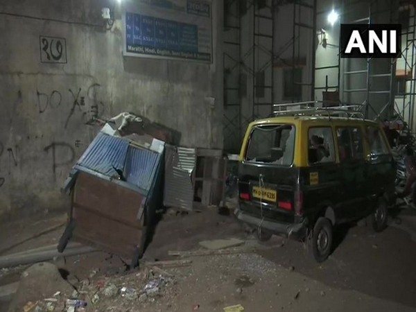 Visual from the site where the clash broke out in Chembur on Friday. Photo/ANI