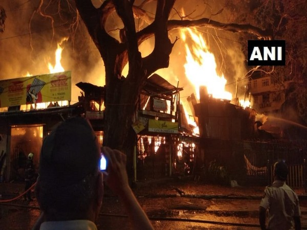 Visuals from the fire. Photo/ANI