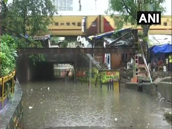 Waterlogging in Malad area of Mumbai due to incessant rainfall in the region.