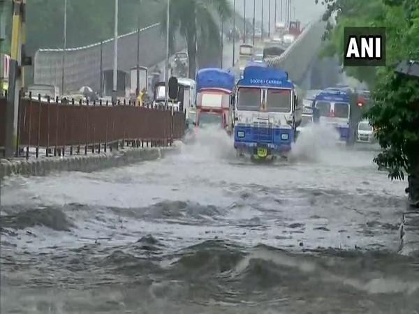 Waterlogged roads in Mumbai's Sion area (Photo/ANI)