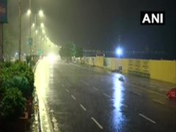 A visual from the rains in Mumbai on wee hours of Thursday. Photo/ANI.