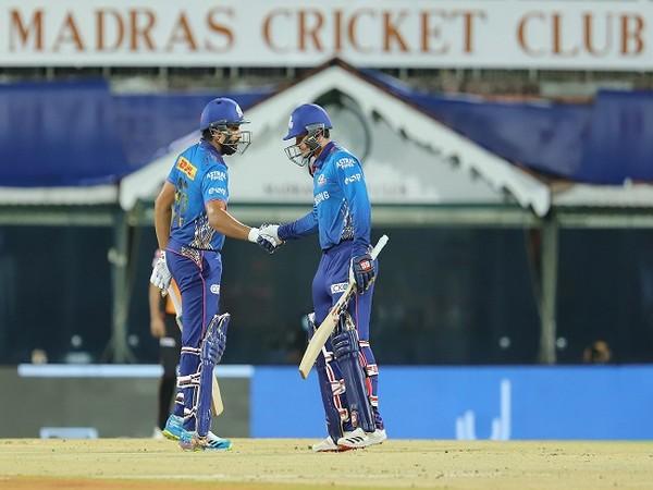 Mumbai Indians skipper Rohit Sharma and Quinton de Kock (Image: BCCI/IPL)
