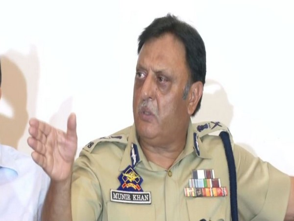 Jammu and Kashmir Additional Director General of Police (Law and Order), Munir Khan, speaking at a press conference in Srinagar on Wednesday. Photo/ANI