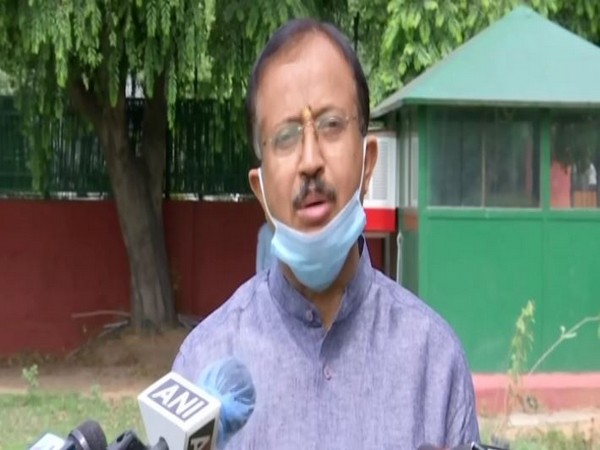 Minister of State (Kerala) for External Affairs V. Muraleedharan addressing media at his residence on Friday. Photo/ANI