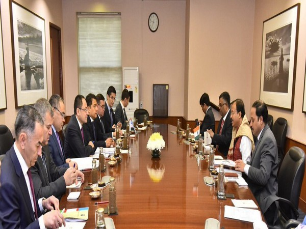 V Muraleedharan held a meeting with Uzbek Chairman of the Chamber of Commerce and Industry Adkham Ikramov in New Delhi on Thursday