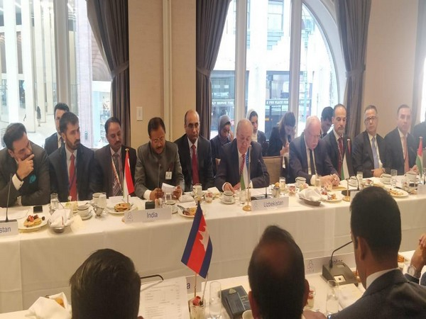 MoS External Affairs V Muraleedharan addressing the CICA lnformal Meeting of Ministers for Foreign Affairs in New York on Monday