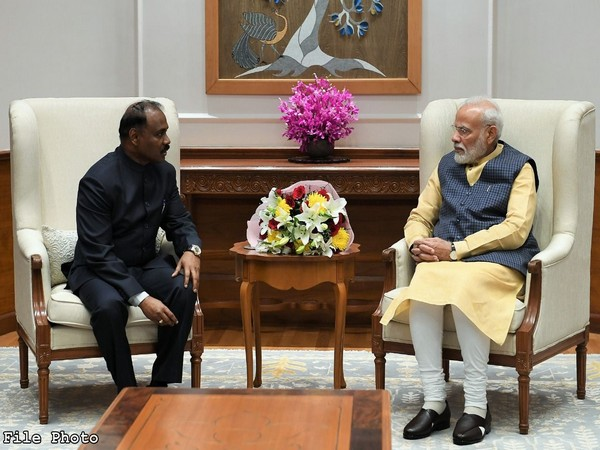 Comptroller and Auditor General of India Girish Chandra Murmu called on PM Narendra Modi on Tuesday
