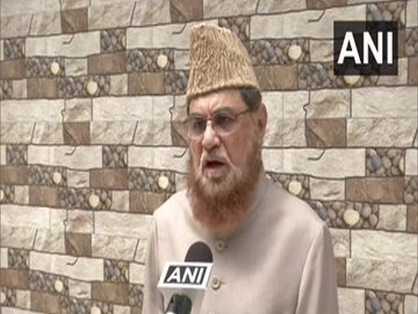Cleric Mufti Mukarram Ahmed speaking to ANI in New Delhi on Friday.