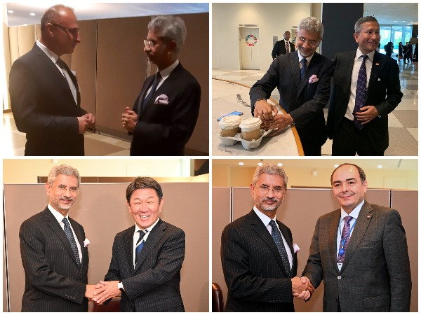 External Affairs Minister S Jaishankar meets foreign diplomats on UNGA sidelines in New York on Thursday.