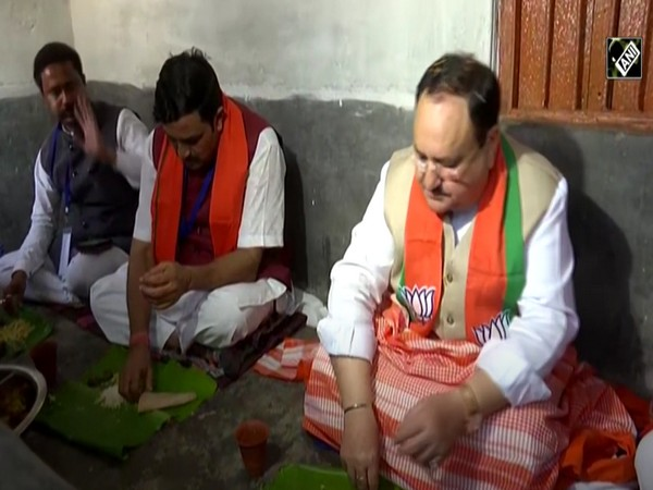 Bharatiya Janata Party President JP Nadda on January 9 visited a farmer's house in West Bengal's Bardhaman.