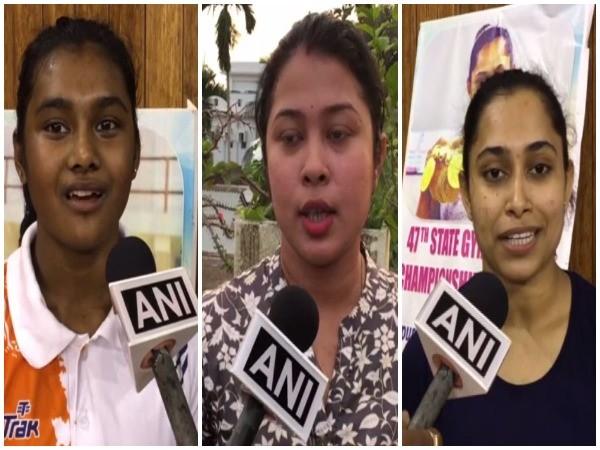 Priyanka Das, Barnali Datta and Dipa Karmakar speaking to ANI on Saturday. Photo/ANI