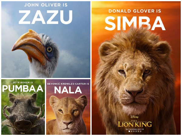 Character poster of 'The Lion King', image courtesy: Instagram