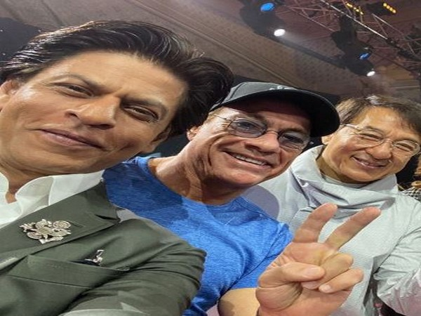 Shah Rukh Khan with Jean-Claude Van Damme and Jackie Chan  (Image courtesy: Instagram)