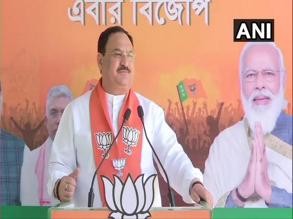 BJP president JP Nadda while addressing a virtual rally (Photo/ ANI)