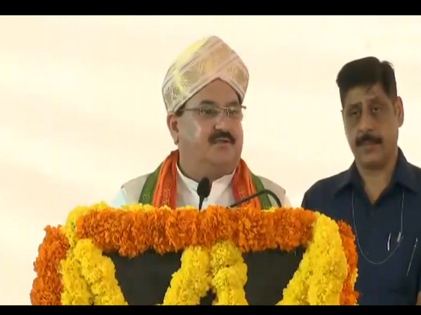 BJP working president JP Nadda addressing a meet of intellectuals on 'One India, One Constitution' in Bengaluru on Sunday. Photo/ANI