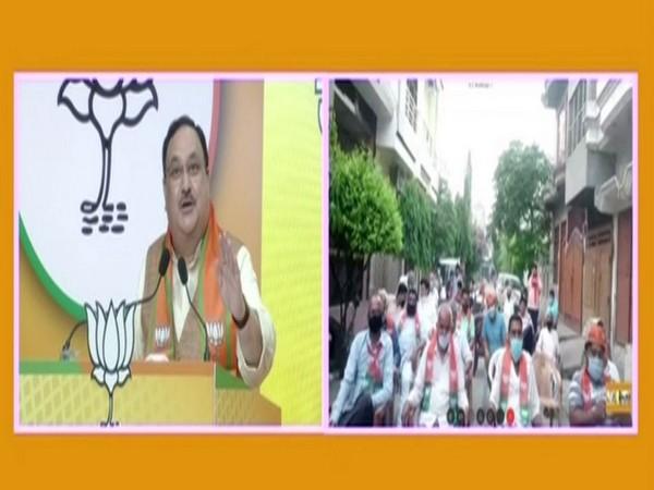 BJP Chief Nadda addressing UP Jam Samvad Rally