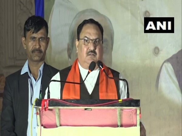 BJP working president JP Nadda addressing an event in Vadodara on Thursday
