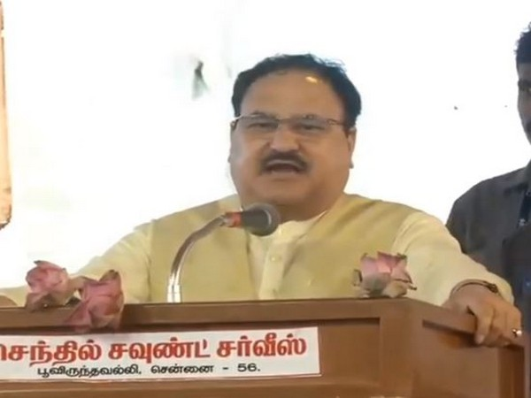 BJP working president JP Nadda speaking at an event on Saturday.