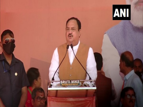 BJP chief JP Nadda addressing a rally in West Bengal on Thursday. (Photo/ANI)