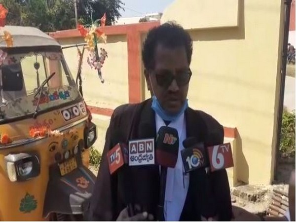 Atchannaidu's lawyer G Ramarao speaking to reporters on Thursday.