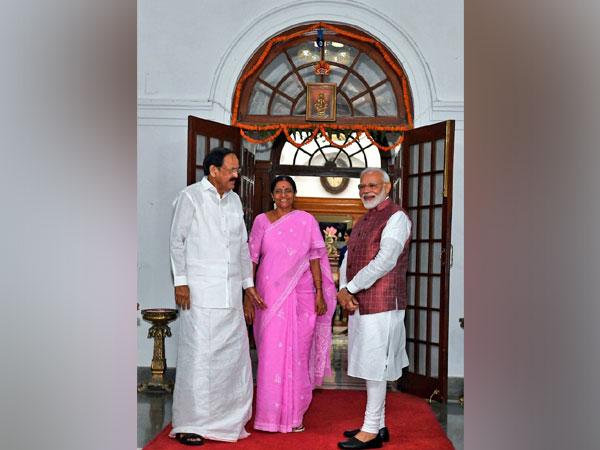 Prime Minister Narendra Modi on Tuesday called on Vice President M Venkaiah Naidu. (Photo credit: Twitter Vice President of India)
