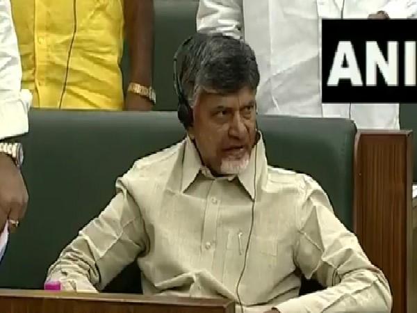 TDP Chief N Chandrababu Naidu in Andhra Pradesh Assembly on July 12. Photo/ANI