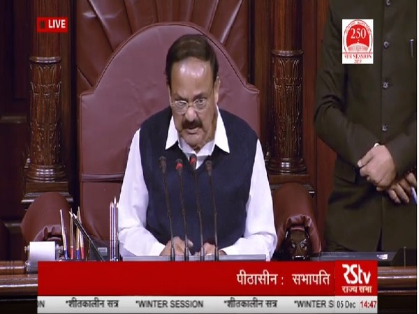 Vice President M Venkaiah naidu speaking in the Rajya Sabha on Thursday. (Image Source:RSTV)
