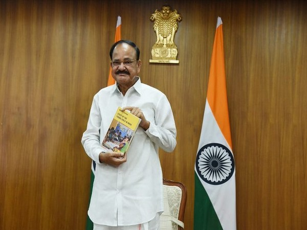 VP Naidu releasing 'The State of Young Child in India' report. (Picture source: Twitter/Vice President of India)