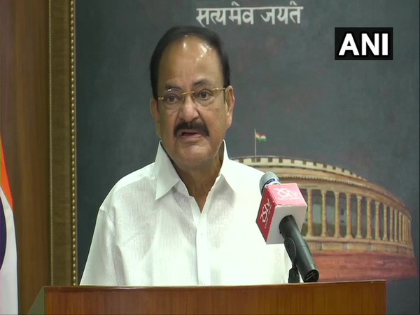 M Venkaiah Naidu, Vice president of India and Chairman of Rajya Sabha speaking during a book launch in New Delhi on Tuesday. (Photo/ANI)