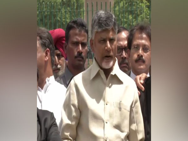 N Chandrababu Naidu addresing media persons outside Supreme Court on Tuesday