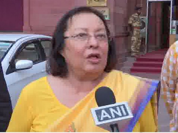 Governor of Manipur Najma Heptulla speaks to ANI in New Delhi on Wednesday. [Photo/ANI]