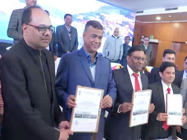 An agreement was signed between the NMCG, Bihar Urban Development Ministry and DK Sewage Project Private Limited. Photo/ANI