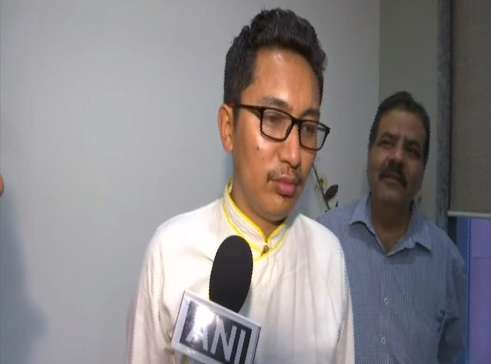 Ladakh MP Jamyang Tsering Namgyal talking to ANI on Monday. Photo/ANI