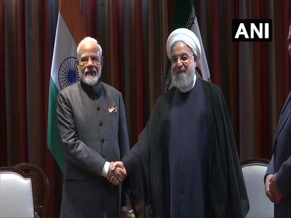 Prime Minister Narendra Modi (L) with Iran President Hassan Rouhani (R) during the bilateral in New York on Thursday (Photo/ANI)