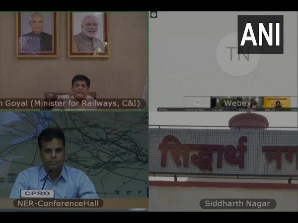 Railway Minister Piyush Goyal during the inauguration event. (Photo/ANI)