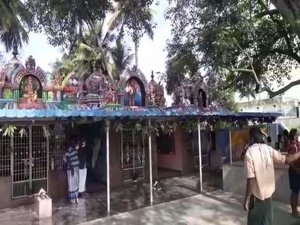 Visuals of a Lord Shiva temple in Chittoor district. Photo/ANI